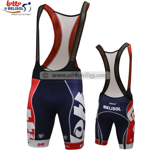 Bib Short Lotto Belisol 2013 - Red Carbon