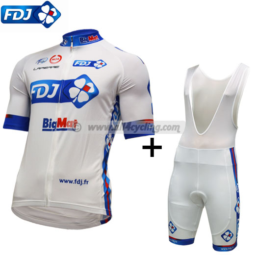 Kit top Francaise des Jeux 2012 long zip - White