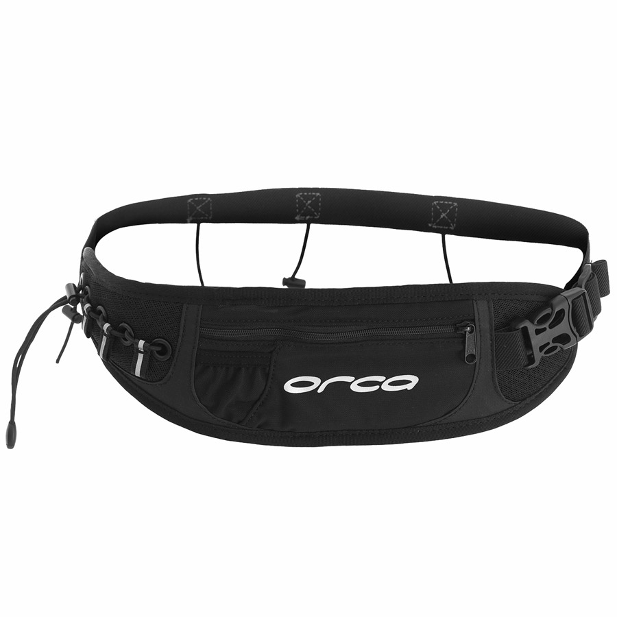 Orca Race Belt with Pocket - Black