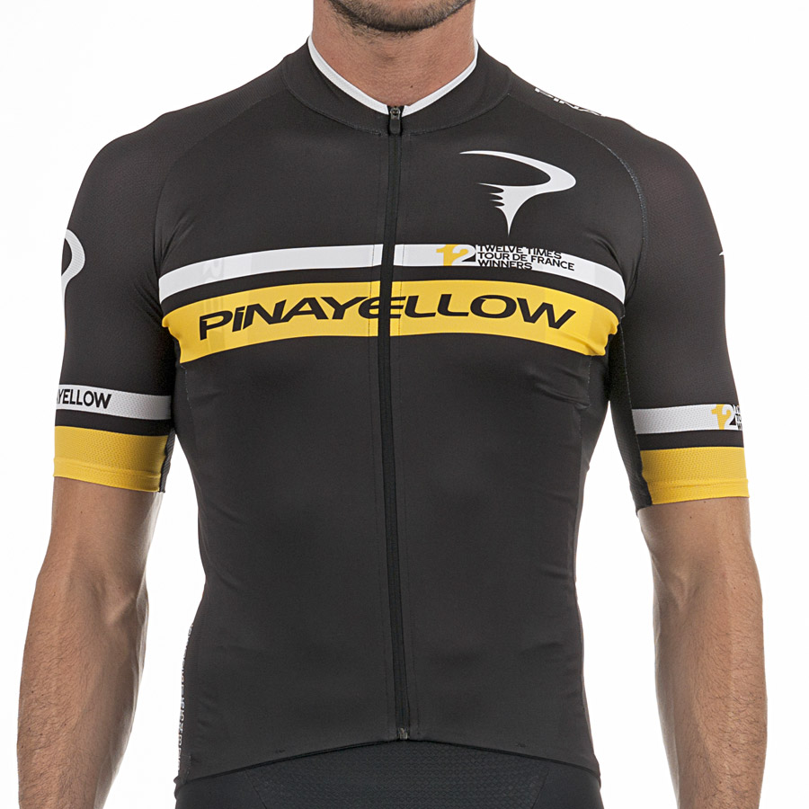 Pinarello 12th Tour de France Jersey - Black Yellow