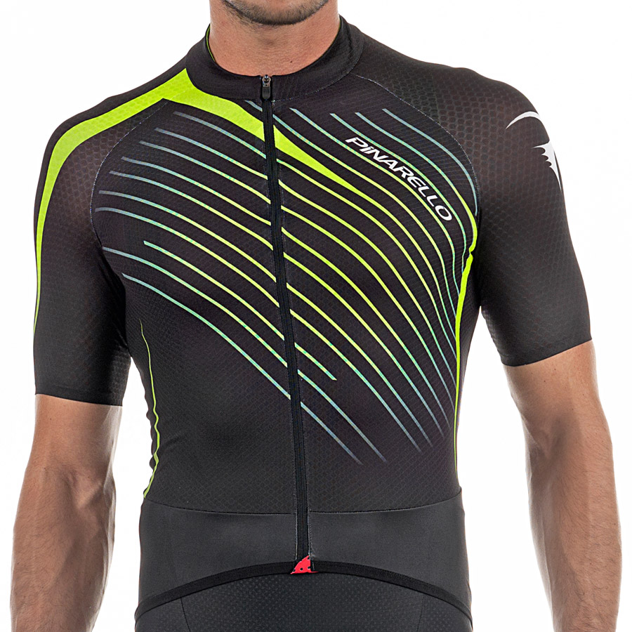 Pinarello Tour Jersey - Black Yellow