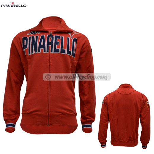 Pinarello Zip Long Track Jacket - Red
