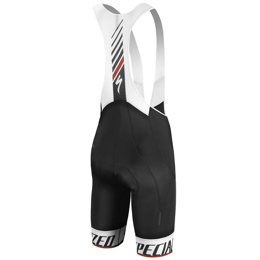 Specialized SL Elite Bib shorts - White Black