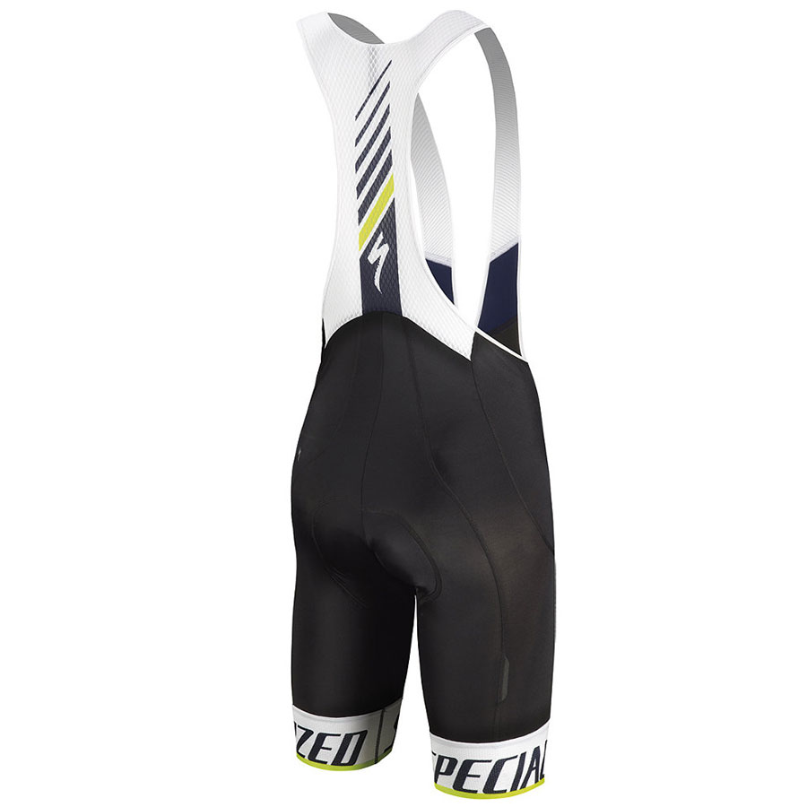 Specialized SL Elite Bib shorts - White Blue