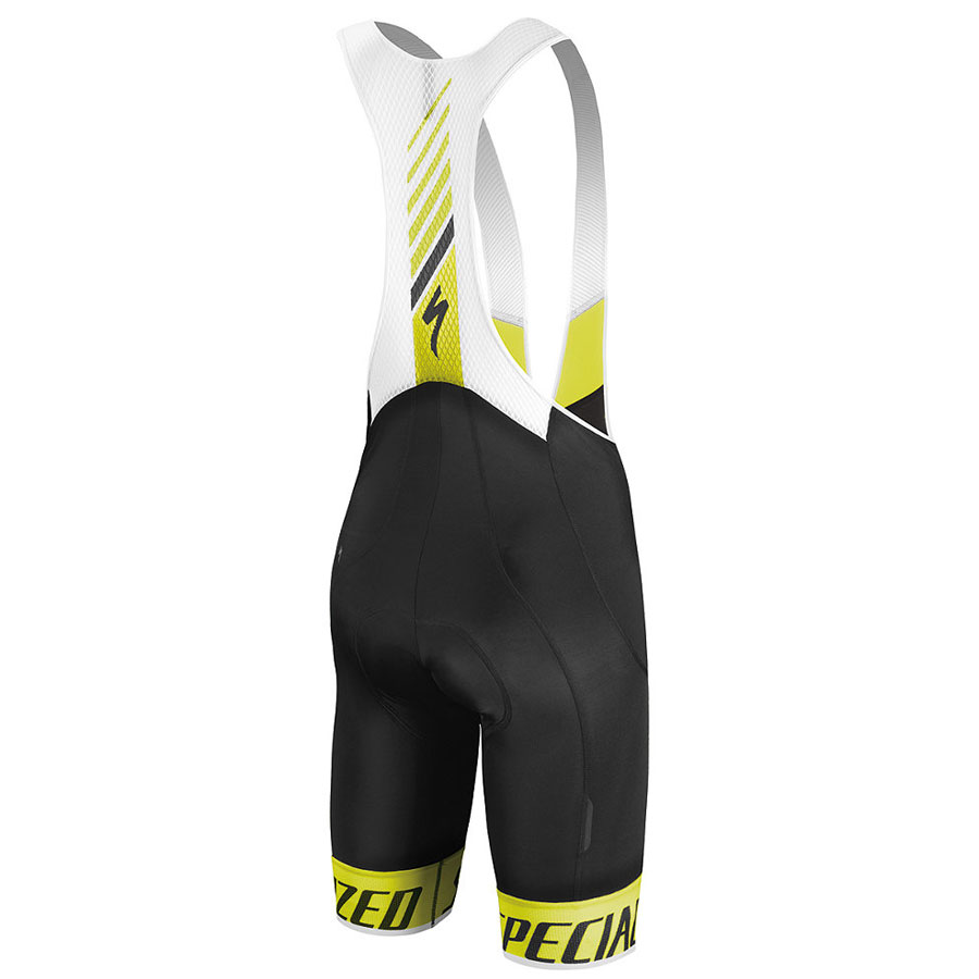 Specialized SL Elite Bib shorts - Yellow Fluo Black