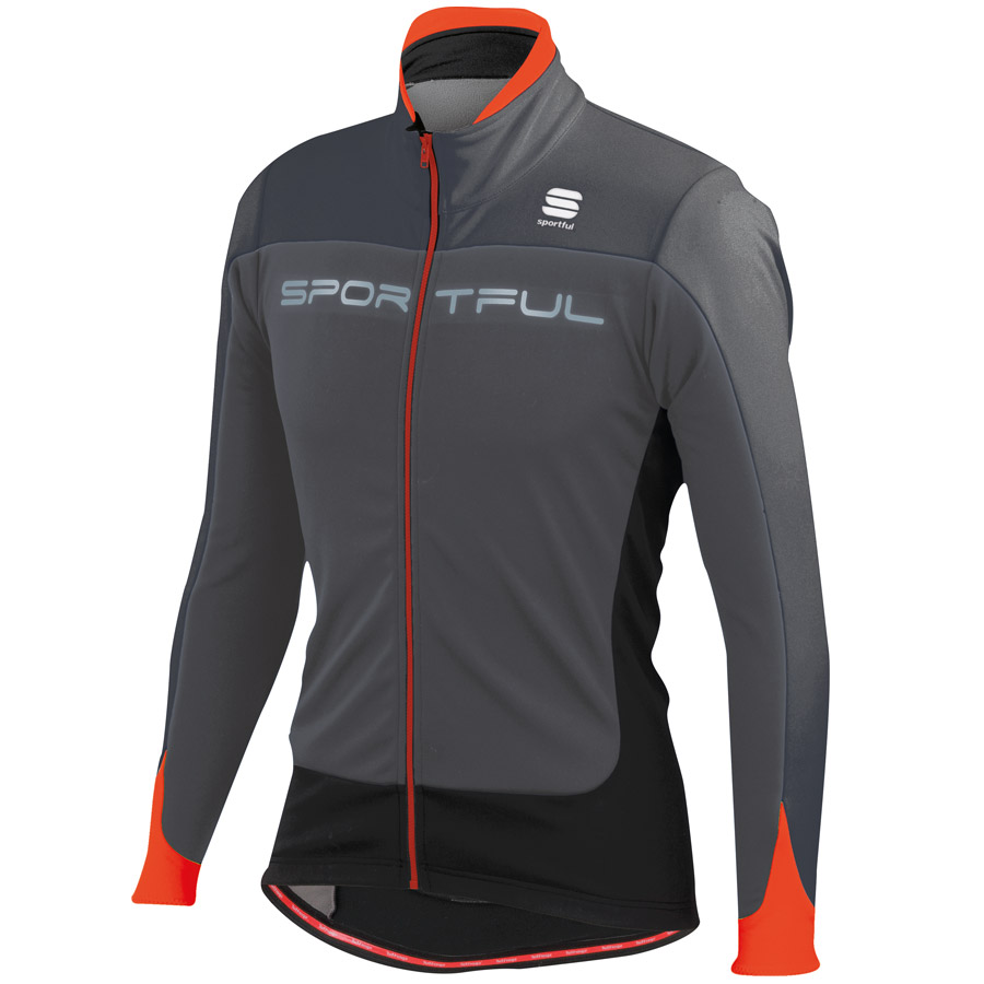 Sportful Flash Softshell Jacket - Anthracite Fire Red
