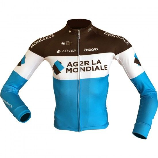 Ag2R La Mondiale 2018 Long Sleeve Cycling Jersey