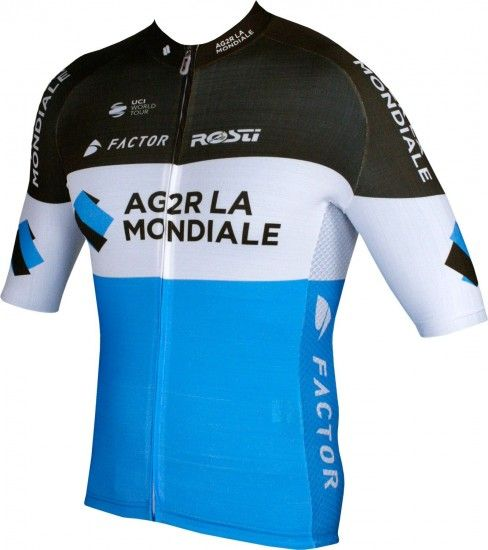 Ag2R La Mondiale 2018 Premium Short Sleeve Cycling Jersey (Long Zip)