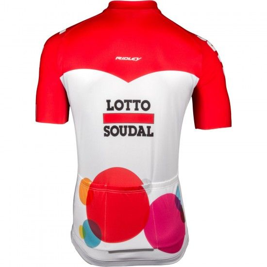 Lotto Soudal 2018 Aero Short Sleeve Cycling Jersey (Long Zip)