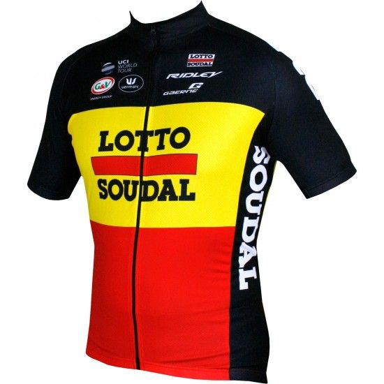 Lotto Soudal Belgian Time Trail Champ 18/19 Short Sleeve Cycling Jersey