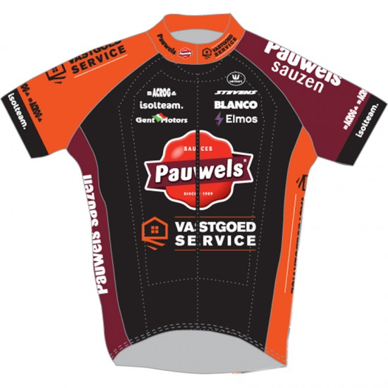 Pauwels Sauzen - Vastgoedservice 2019 Short Sleeve Cycling Jersey (Long Zip)