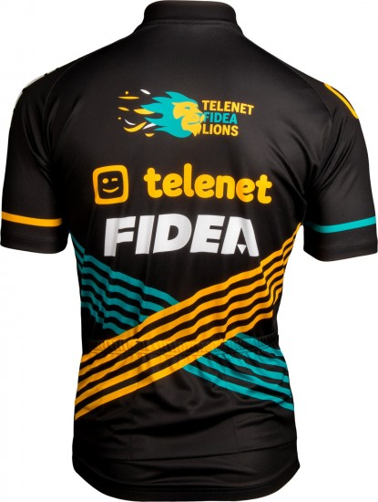 Telenet - Fidea - Lions 2019 Short Sleeve Cycling Jersey (Long Zip)