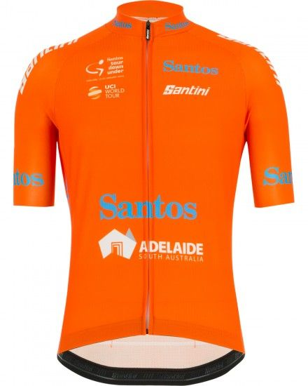 Tour Down Under 2019 Leader Short Sleeve Cycling Jersey Orange