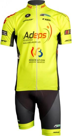 Wallonie - Bruxelles 2019 Short Sleeve Cycling Jersey (Long Zip)